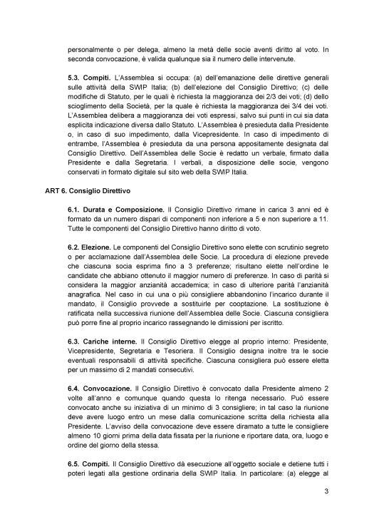 Statuto ratificato SWIP Italia 3